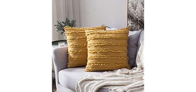 MIULEE Boho - Textured Pillow Case