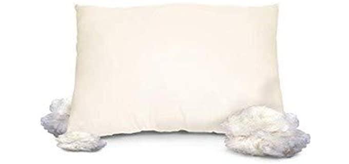 OrganicTextiles Medium Fill - Wool Stuffed Pillow
