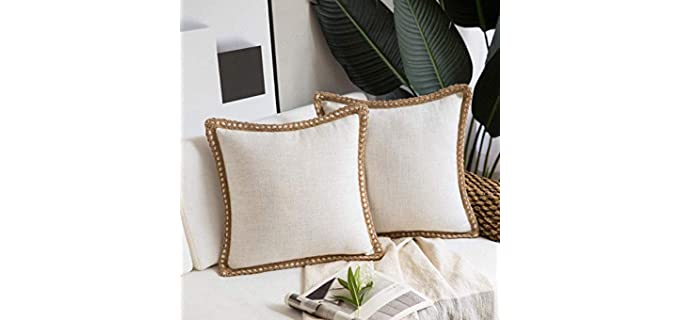 Phantoscope Linen Textured - Farmhouse Pillow Covers