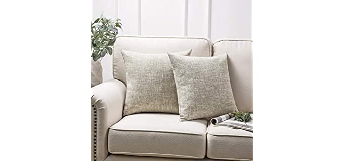 Phantoscope Faux Linen - Polyester Pillow Cover