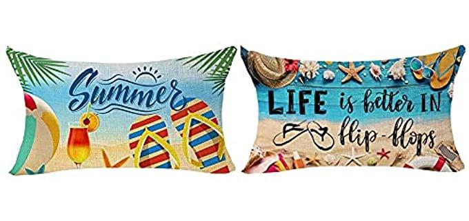 ITFRO Beachy - Vintage Lumbar Pillowcase