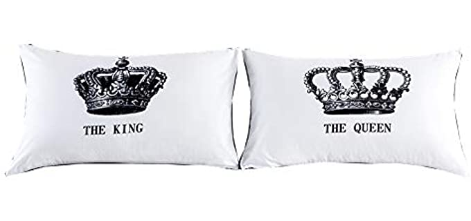 NTBED Queen King - Crown Pillow Cases