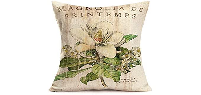Tlovudori Floral - Vintage Throw Pillowcase