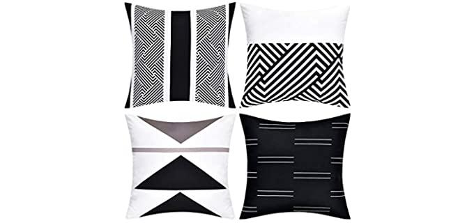 VERTKREA Modern  - Geometric Pillowcase Set