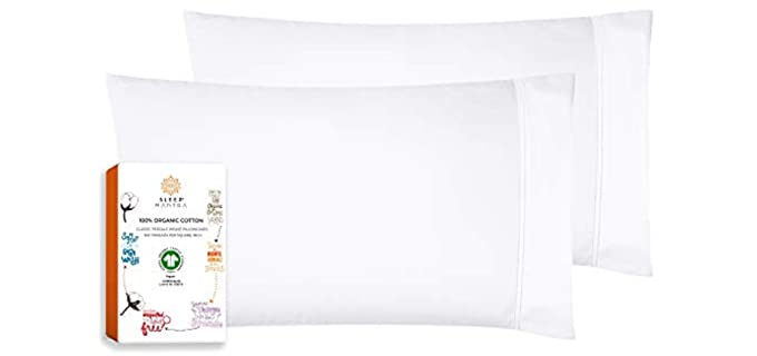 Sleep Mantra Store Organic - Percale Pillowcases