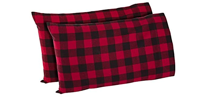 Amazon Brand Stone and Beam - Comfy Flannel Pillowcases