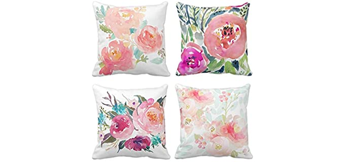Emvency Abstract - Floral Pillow Cases