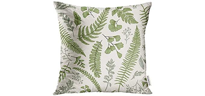 Golee Velvet - Green Floral Pillow Covers