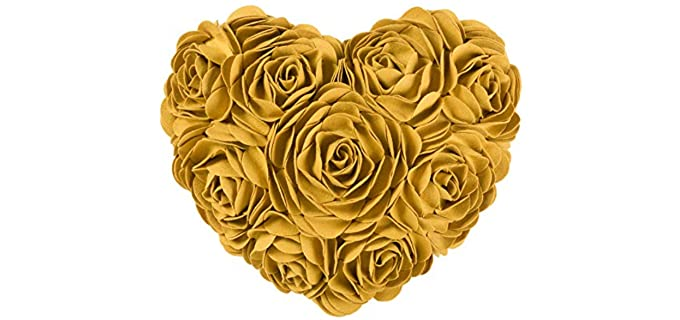 JWH  Rose Flower - designer pillows