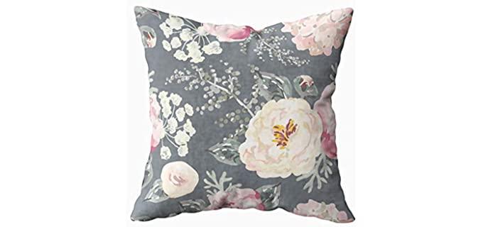 KIOAO Polyester - Floral Gray Pillow Cases