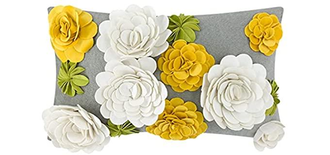 King Rose 3D Flower - Fashion Designer Pillows