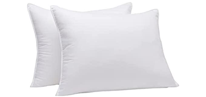 Amazon Basics Down Alternative - Stomach sleeper pillow