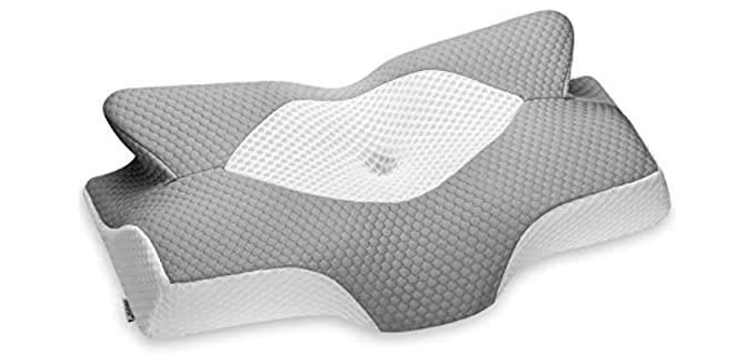 Elviros Cervical - Memory Foam Pillow with Arm Hole